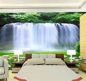 large wall murals wallpaper custom large wall mural 3d waterfall photo wallpaper