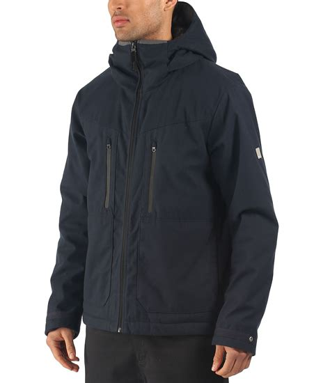 bench jacket mens bench stroke zip thru hooded jacket in blue for men navy
