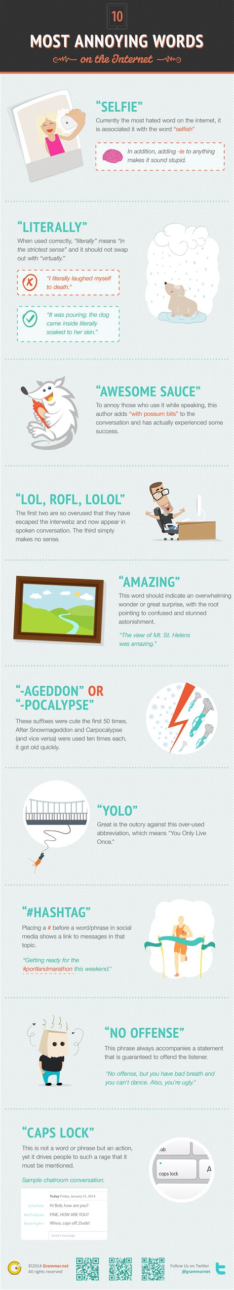 10 Most Annoying Words by 10 Most Annoying Words On The Infographic
