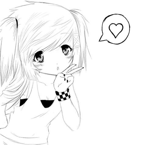 cute anime girl coloring pages anime coloring pages for adults bestofcoloring com