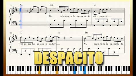 tutorial piano despacito quot despacito quot piano tutorial free sheet music with