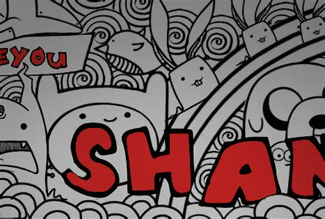 doodle name shaine make you doodle doodle cover photo fiverr