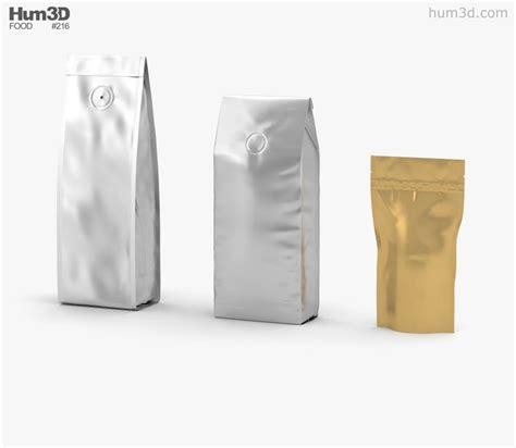 Bag 3d coffee bag 3d model hum3d