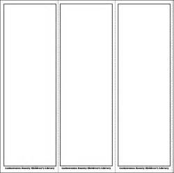 free blank bookmark templates to print blank bookmark templates for word calendar template 2016