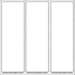 Blank bookmark template blank bookmark template