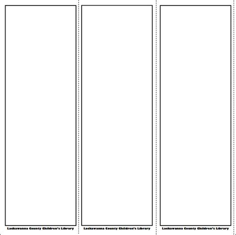 templates bookmarks printable free blank bookmark template pinteres
