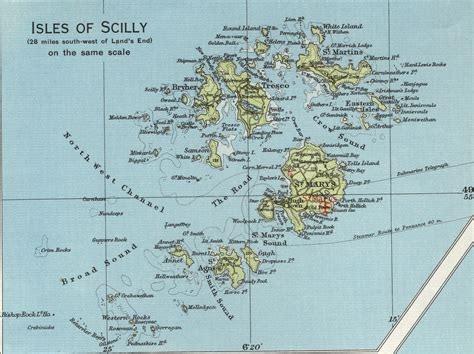 map of isles scilly isles map