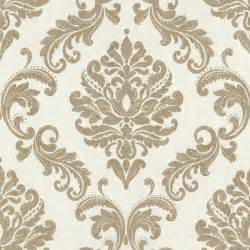 Charcoal Gray Bedroom - sebastion gold damask wallpaper traditional wallpaper by brewster home fashions