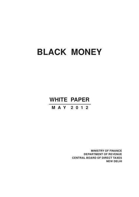 Essay On Black Money Wiki by White Paper On Black Money