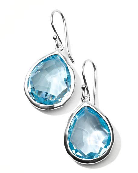 Sky Blue Topaz C 518 ippolita silver rock candyteardrop earrings in sky blue topaz