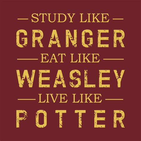 How To Study Like Hermione Granger by Study Like Granger Eat Like Weasley Live Like Potter