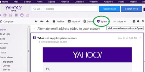 Email Yahoo About Spam | how to mark and delete spam in yahoo mail