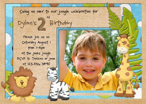 safari birthday invitation for logan boy