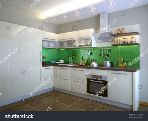 the cook room a modern 3d cook room stock photo 41368093