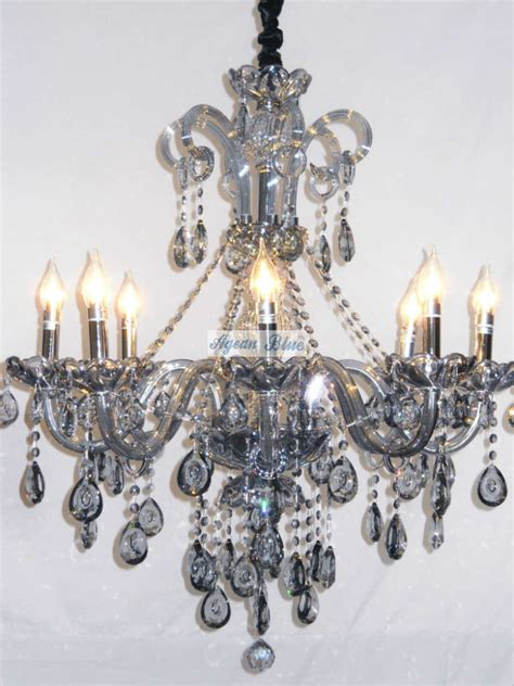 Blue Chandeliers 2014 Free Shipping 8 Arms Modern Blue Chandelier Lustre For Home Decor A Agspsl6801 8