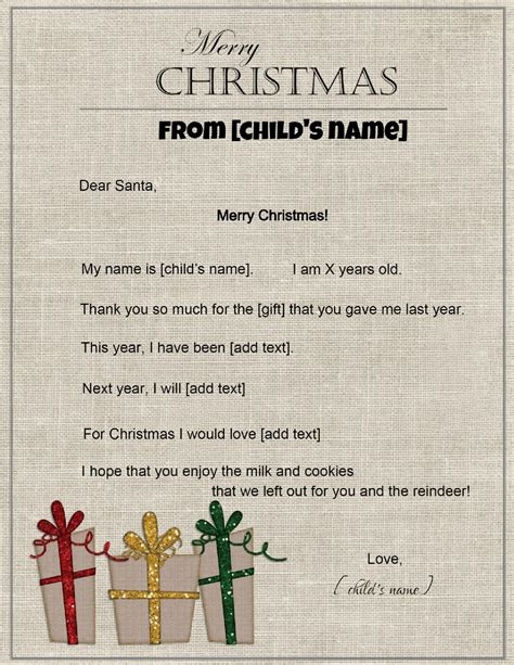 Free Santa Letterhead Template