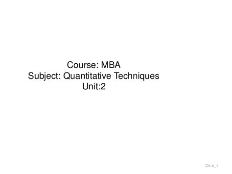 Quantitative Mba Programs by Mba I Qt Unit 2 Measures Of Central Tendency