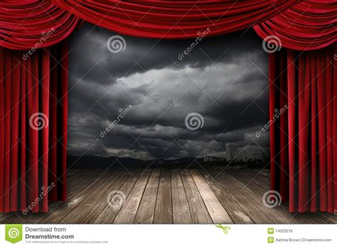 Velvet Stage Curtains Bright Stage With Velvet Theater Curtains Stock Image Image 14223219