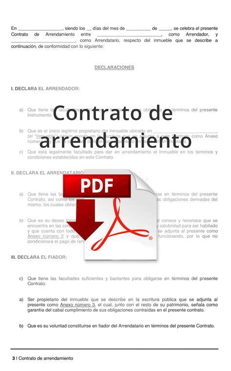formato de arrendamiento formato de contrato de arrendamiento pdf lamudi m 233 xico