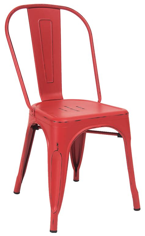 Distressed Bistro Chair Bistro Style Metal Chair In Distressed Finish