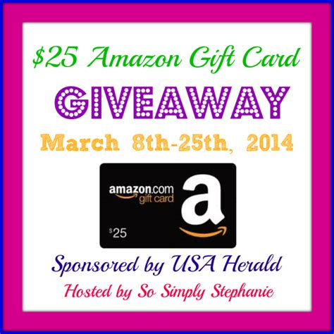 Amazon Giveaway Review - 25 amazon gc giveaway march 8 25 product review cafe