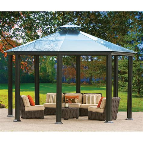 gazebo steel aluminum and steel hardtop gazebo pergola design ideas