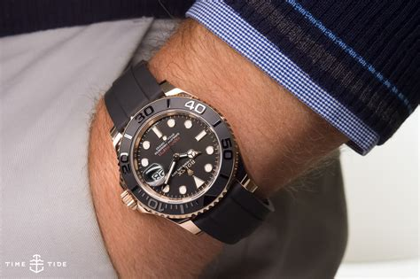 Rolex Oyster Perpetual Yacht Master 116655 in Everose with new Oysterflex Bracelet ? Hands on Review
