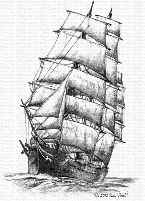 tall ship tattoo designs fergus designs sailing ship windermere pencil on paper