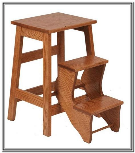 Wood 3 Step Folding Stool by Stainless Steel Mobile 2 And 3 Steps Steps And Ladders