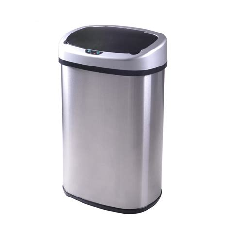 New 13 Gallon Touch Free Sensor Automatic Touchless Trash Garbage Can For Kitchen
