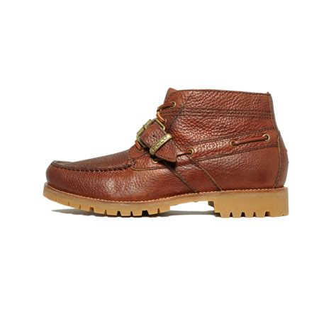 ralph leather boots ralph rumford leather boots in brown for lyst