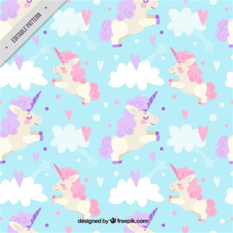 unicorn pattern background rainbow background vectors photos and psd files free