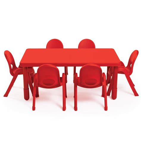 angeles myvalue preschool rectangle table  chairs set ab packaged tables chairs