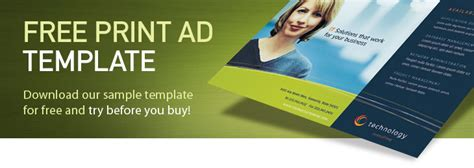 Free Print Ad Template Sle Ad Template Free