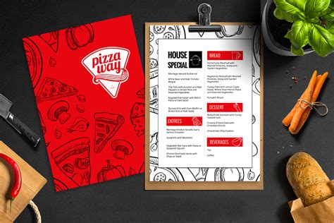 Pizzeria Menu Design KaazunutKaazunut