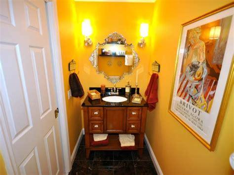 bright yellow bathroom photo page hgtv