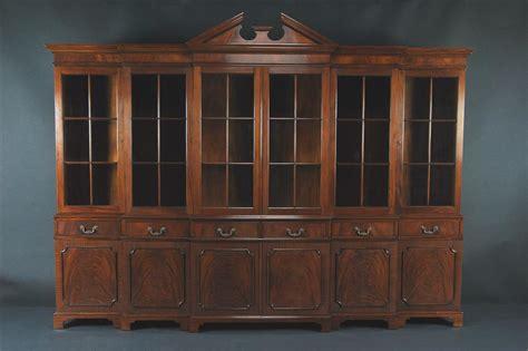 large mahogany china cabinet large breakfront extra