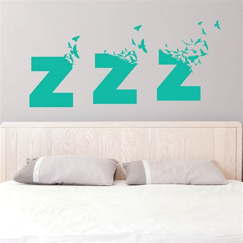 bedroom wall decals large sleepy birds bedroom wall sticker by so they made