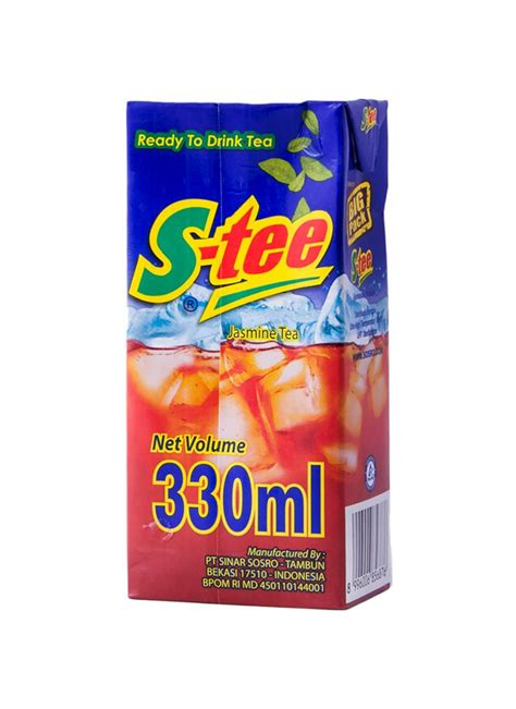 Teh Sosro Kotak 330ml s minuman teh melati tpk 330ml klikindomaret