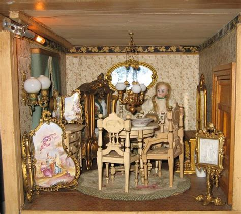 Queen Anne House Christian Hacker Mansion Dining Room Antique Doll House