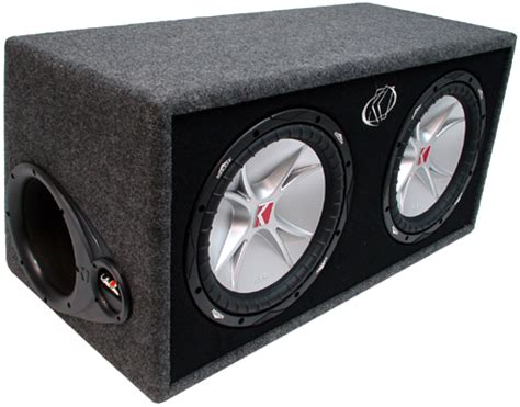 Subwoofer Kickers Cvr 12 Original Murah kicker dcvr12 r car audio comp cvr dual 12 quot sub enclosure 4 ohm 07dcvr12 4 rs