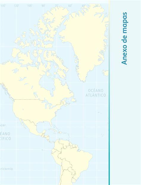 mapa de geografia de 5 grado anexo de mapas geograf 237 a bloque 5to apoyo primaria