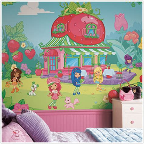 strawberry room strawberry shortcake wall murals large strawberry shortcake wall murals for