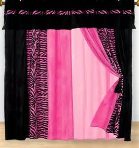 Pink And Black Curtains Pink And Black Zebra Curtains Quotes