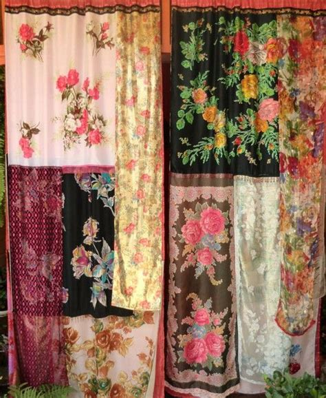 curtains with scarves lost bohemia handmade gypsy curtains hermes scarves