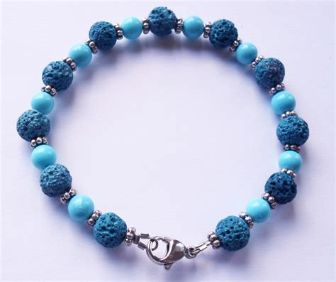 colored for bracelets 205 sfold bracelet colored lava turquoise the