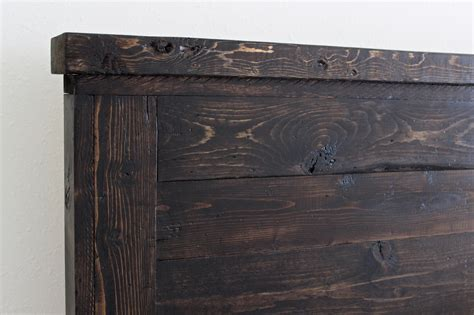 wooden headboards king ana white reclaimed wood headboard cal king diy projects