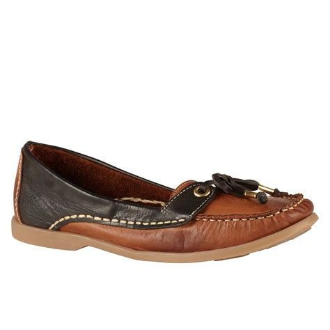 loafers for flat aldo alovien flat loafer shoes in brown for lyst