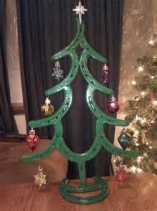 horseshoe christmas trees by wildwilhorseshoeart on etsy