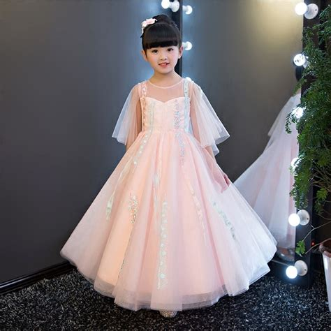 Dress Pesta Import Anak Pink aliexpress buy 2017 new european children summer pink lace dress